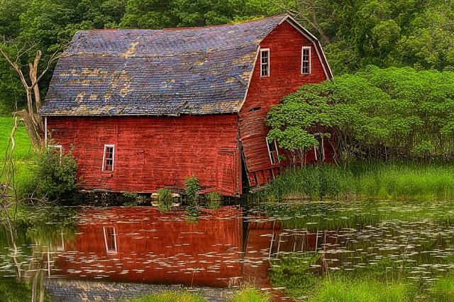 Broken but Beautiful - Farming Barn @  Zimmerman, MN